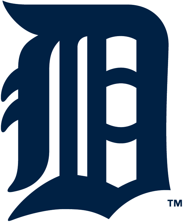 Detroit Tigers Logo Primary Logo (1934-1956) - Olde-English style navy blue D SportsLogos.Net