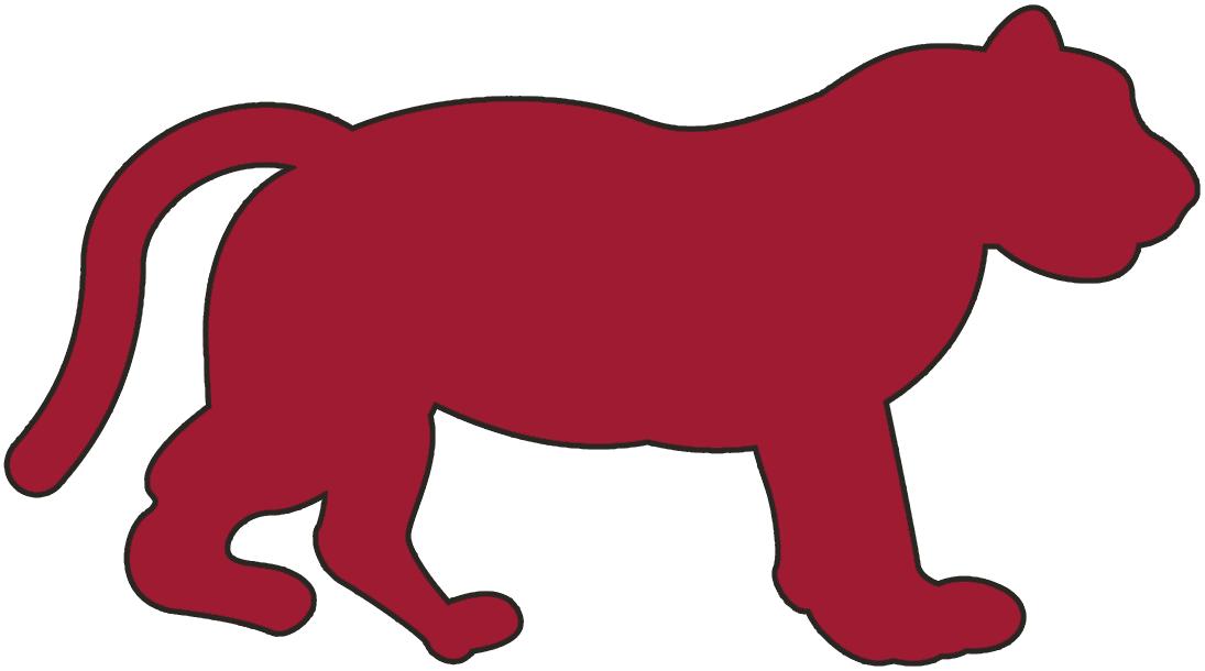 Detroit Tigers Logo Primary Logo (1901-1902) - A red tiger walking SportsLogos.Net