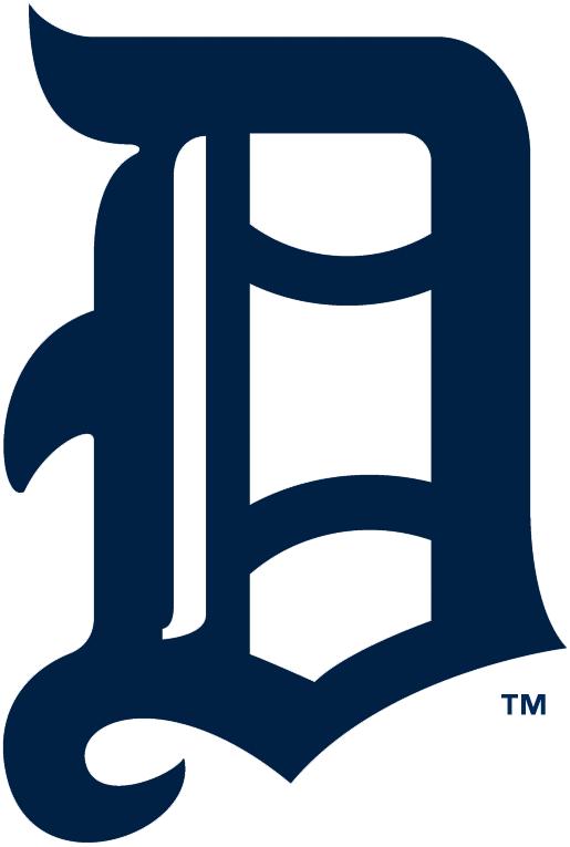 Detroit Tigers Logo Primary Logo (1905-1907) - A navy Olde English style D SportsLogos.Net