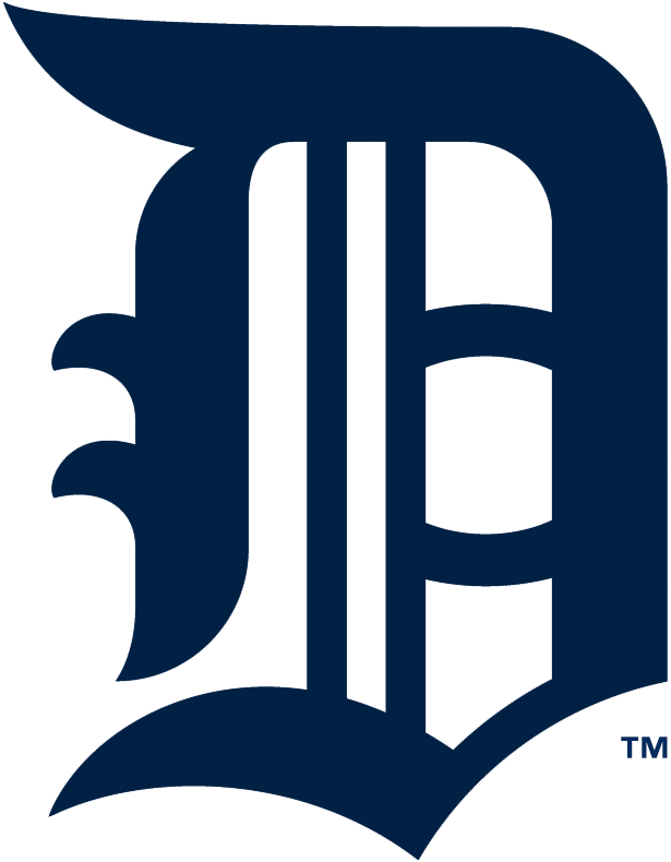 Detroit Tigers Logo Primary Logo (1908-1913) - A navy Olde English style D SportsLogos.Net