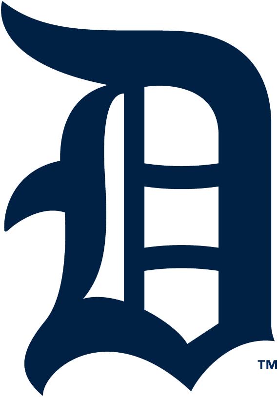 Detroit Tigers Logo Primary Logo (1917) - A navy Olde English style D SportsLogos.Net