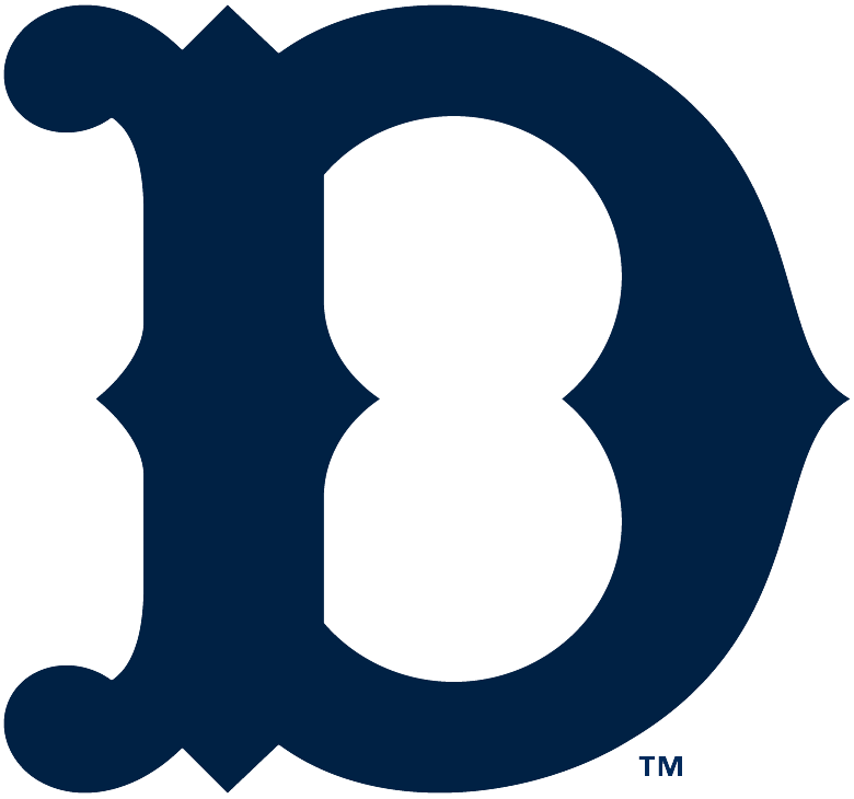 Detroit Tigers Logo Primary Logo (1918-1920) - A navy D SportsLogos.Net