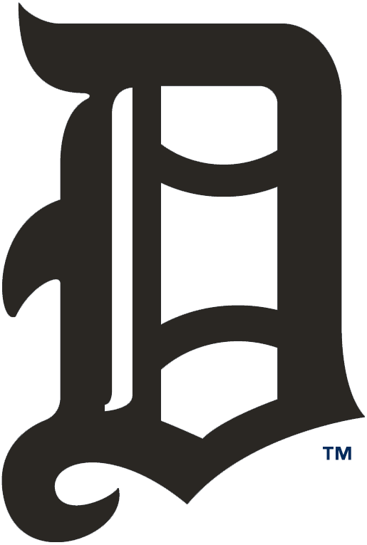 Detroit Tigers Logo Primary Logo (1904) - Olde-English style black D SportsLogos.Net