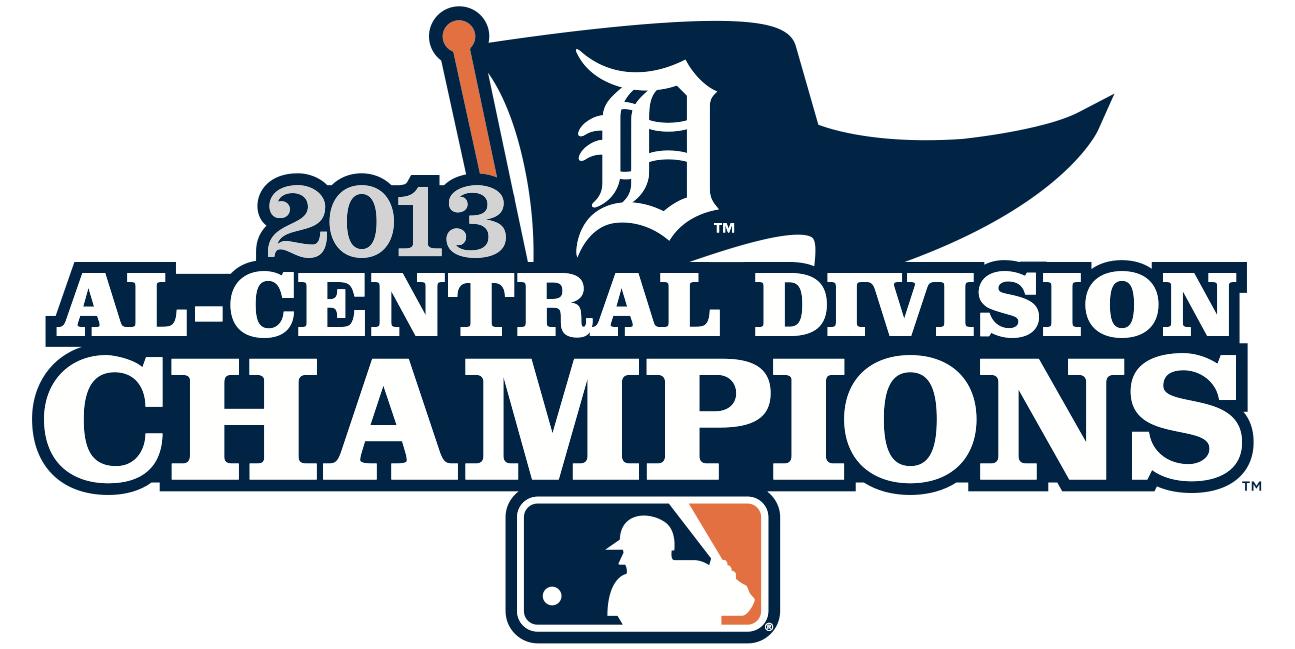 Detroit Tigers Logo Champion Logo (2013) - Detroit Tigers 2013 AL Central Division Champions Logo SportsLogos.Net