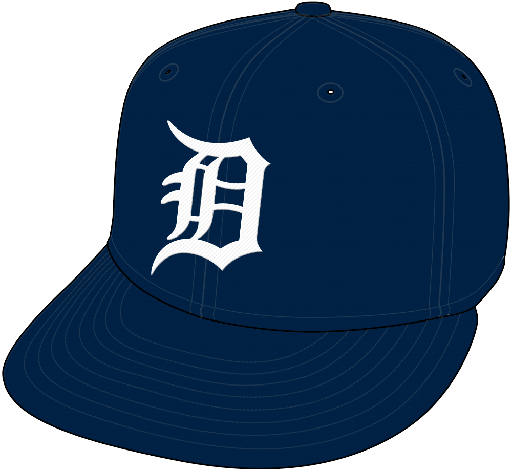 Detroit Tigers Cap Cap (1968-Pres) - Home and road cap (1968-71), home cap only since 1972 SportsLogos.Net