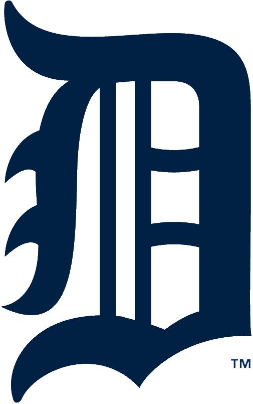 Detroit Tigers Logo Primary Logo (1921-1924) - A navy Olde English style D SportsLogos.Net