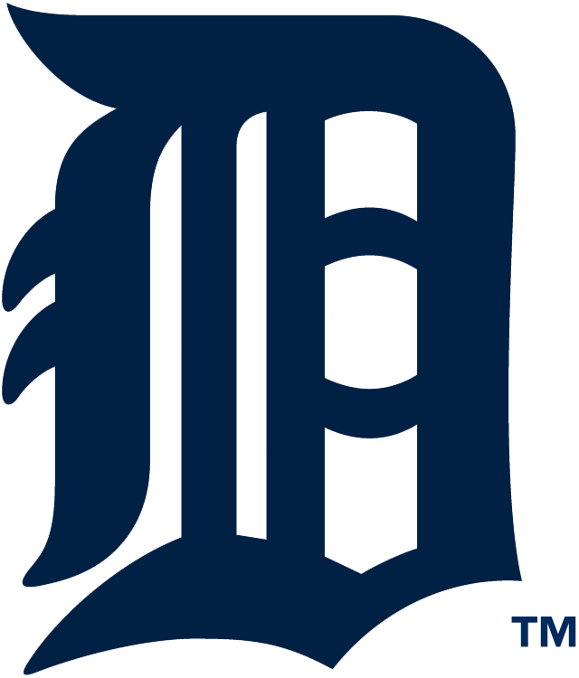 Detroit Tigers Logo Primary Logo (2006-2015) - A navy Olde English style D, also worn on the Tigers home jersey SportsLogos.Net