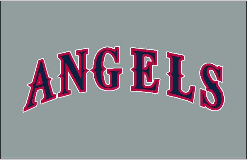 California Angels Logo Jersey Logo (1993-1996) - (Road)