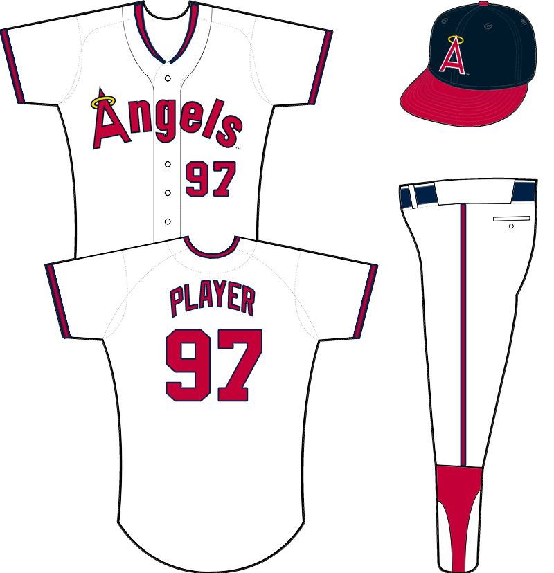 California Angels Uniform Home Uniform (1989-1992) -  SportsLogos.Net