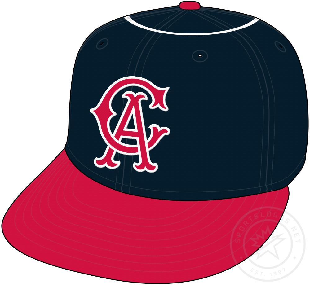California Angels Cap Cap (1965-1970) - California Angels original cap with white halo on crown SportsLogos.Net