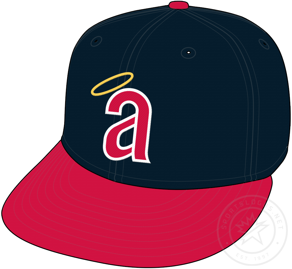California Angels Cap Cap (1971) - California Angels cap with lowercase a, worn only in 1971 SportsLogos.Net