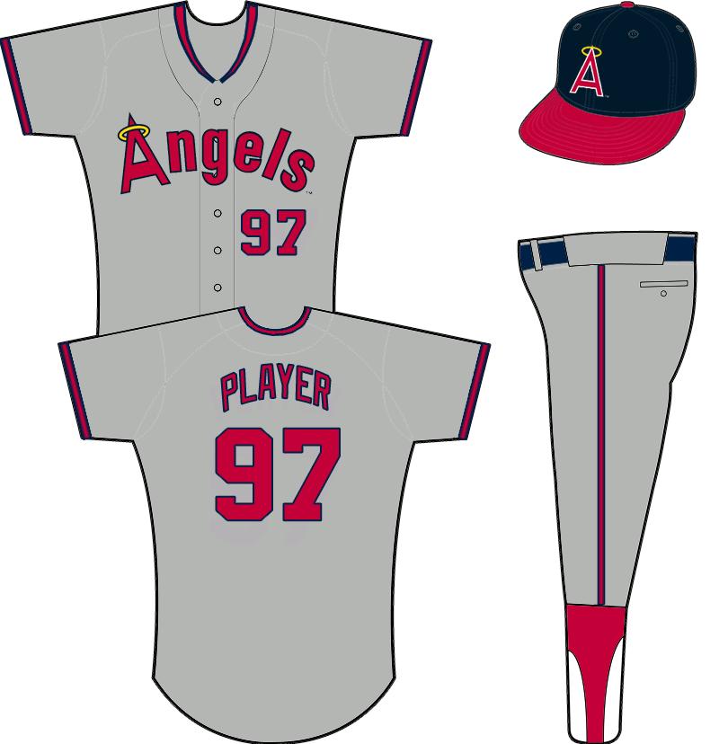 California Angels Uniform Road Uniform (1989-1992) -  SportsLogos.Net