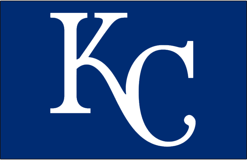 Kansas City Royals Logo Cap Logo (2002-Pres) - KC in white on blue background SportsLogos.Net