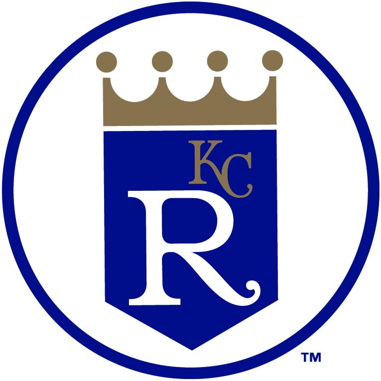 Kansas City Royals Logo Alternate Logo (1993-2001) - Shield logo without script in a circle SportsLogos.Net