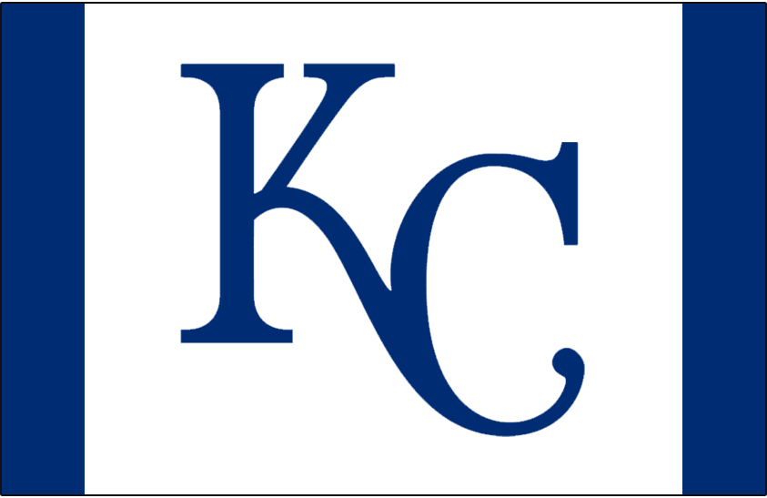 Kansas City Royals Logo Batting Practice Logo (2013-Pres) - KC in blue on a cap with a white front panel and blue sides. Worn on the Kansas City Royals batting practice cap starting in 2013 SportsLogos.Net