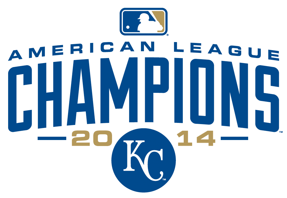 Kansas City Royals Logo Champion Logo (2014) - Kansas City Royals 2014 American League Champions Logo SportsLogos.Net