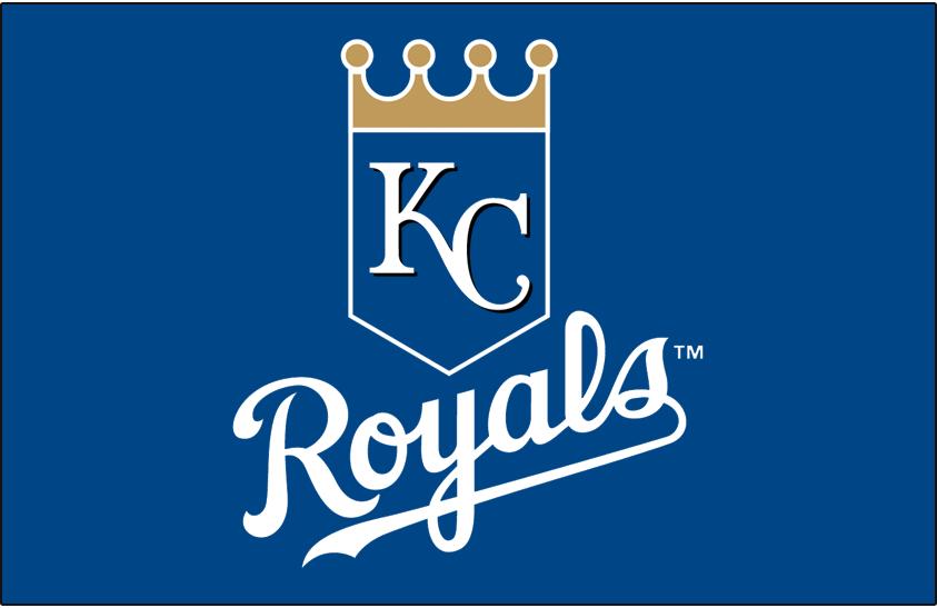 Kansas City Royals Logo Primary Dark Logo (2002-Pres) - Royals primary logo on blue SportsLogos.Net