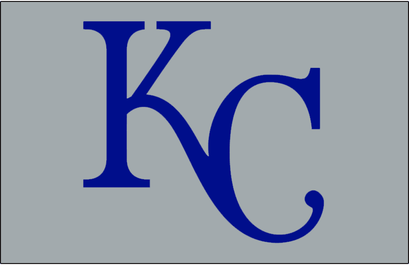 Kansas City Royals Logo Cap Logo (1995) - KC in blue on grey background, worn on the road during the 1995 season only SportsLogos.Net