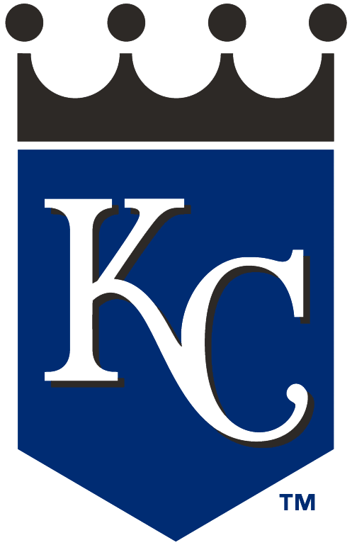 Kansas City Royals Logo Alternate Logo (2002-2005) - KC on blue shield with black crown SportsLogos.Net