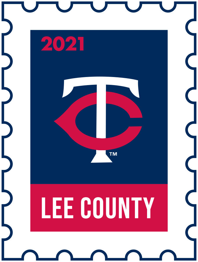 Minnesota Twins Logo Event Logo (2021) - The Minnesota Twins 2021 Spring Training logo, the design follows a league-wide style using a postage stamp in team colours with the team logo in the middle. SportsLogos.Net