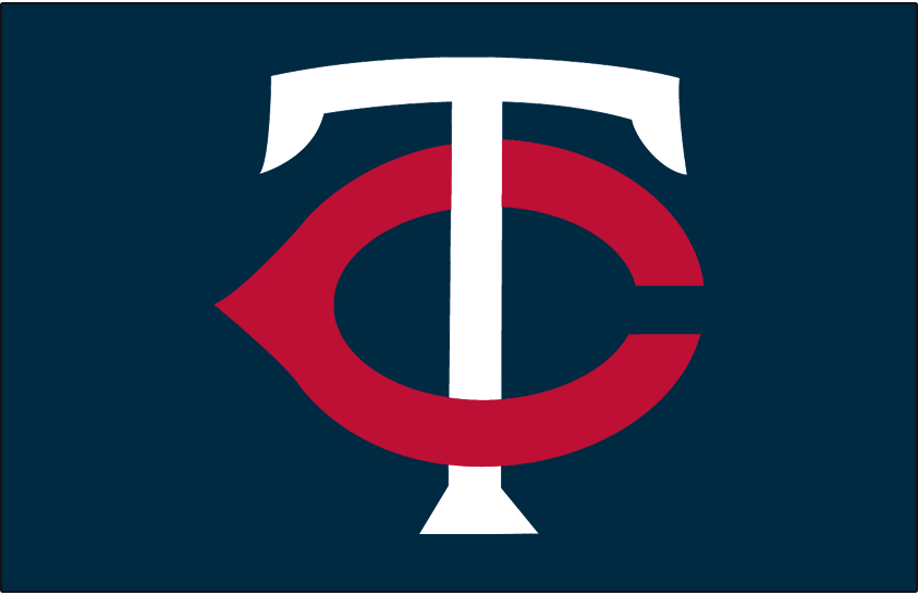 Minnesota Twins Logo Cap Logo (1961-1986) - White T with a red C on navy SportsLogos.Net