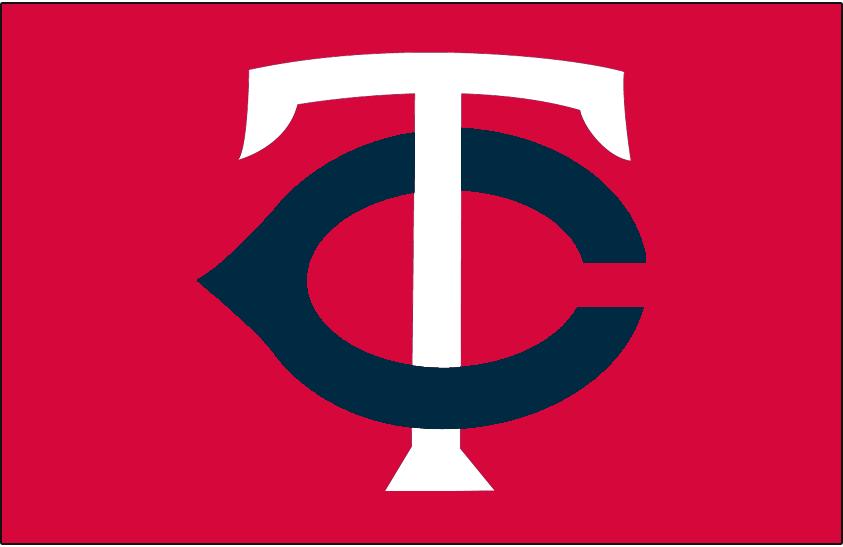 Minnesota Twins Logo Cap Logo (1976-1986) - White T with a navy C on red SportsLogos.Net
