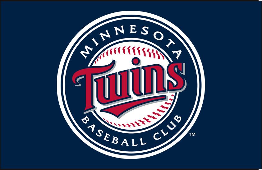 Minnesota Twins Logo Primary Dark Logo (2010-Pres) - Twins primary mark on dark blue SportsLogos.Net