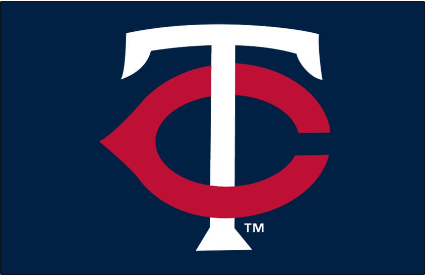 Minnesota Twins Logo Cap Logo (2002-Pres) - White T with a red C on navy SportsLogos.Net