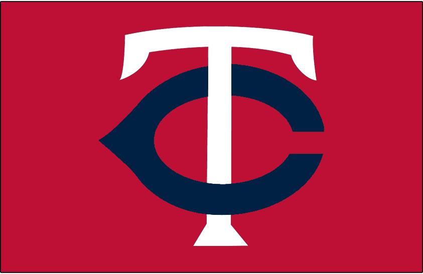 Minnesota Twins Logo Cap Logo (2004-2009) - White T with a navy C on red SportsLogos.Net