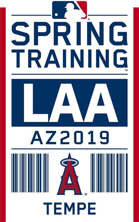 Los Angeles Angels Logo Event Logo (2019) - Los Angeles Angels 2019 Spring Training Logo SportsLogos.Net