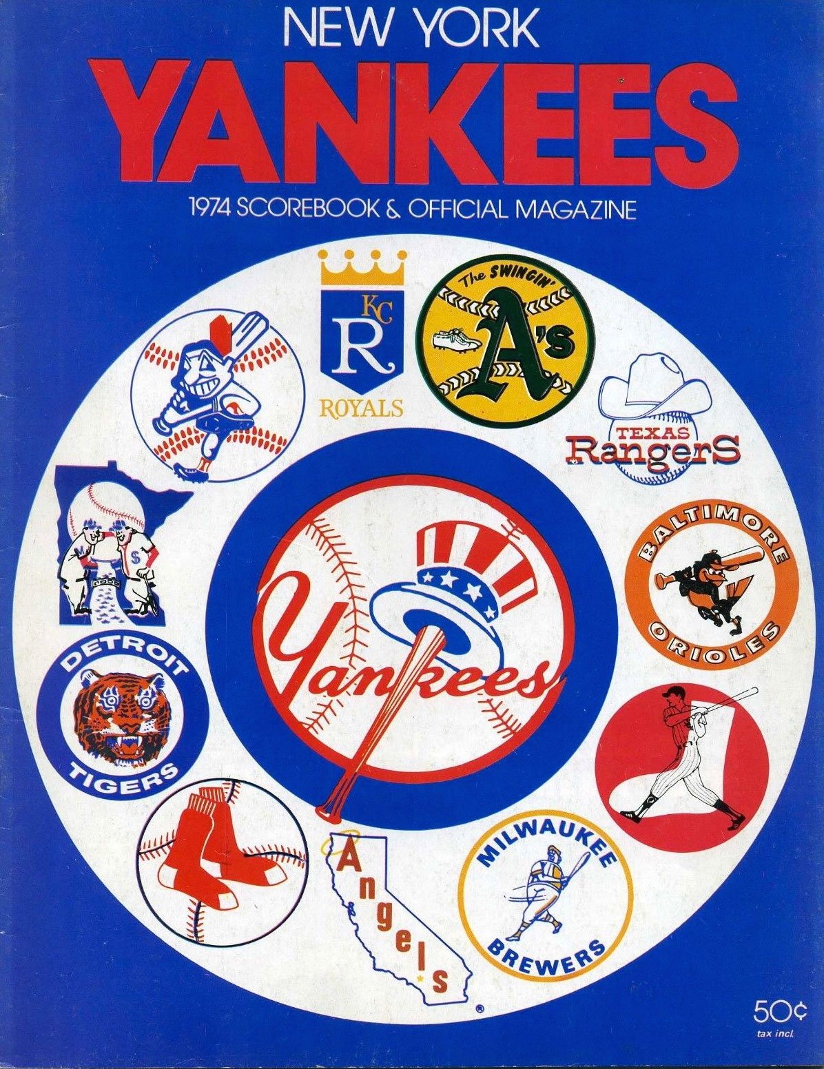 New York Yankees Program Program (1974) -  SportsLogos.Net