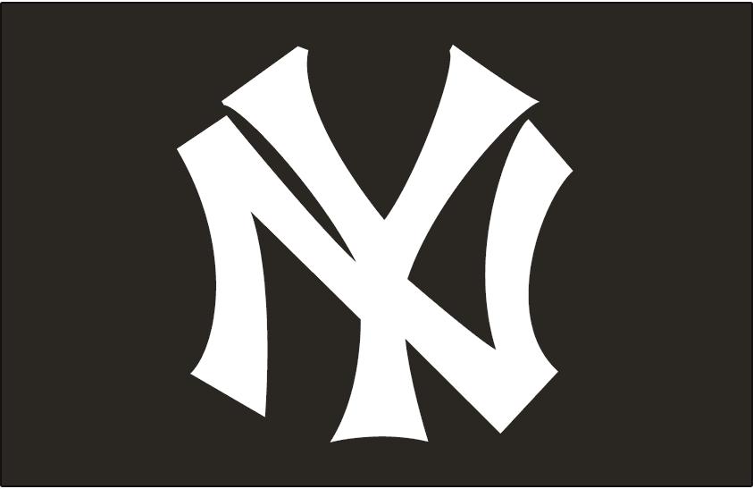 New York Yankees Logo Cap Logo (1913-1914) - NY in white on black, worn on New York Yankees cap in 1913 and 1914 SportsLogos.Net