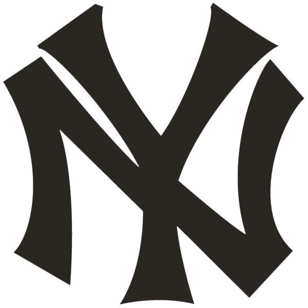 New York Yankees Logo Primary Logo (1913-1914) - Interlocking NY in black SportsLogos.Net