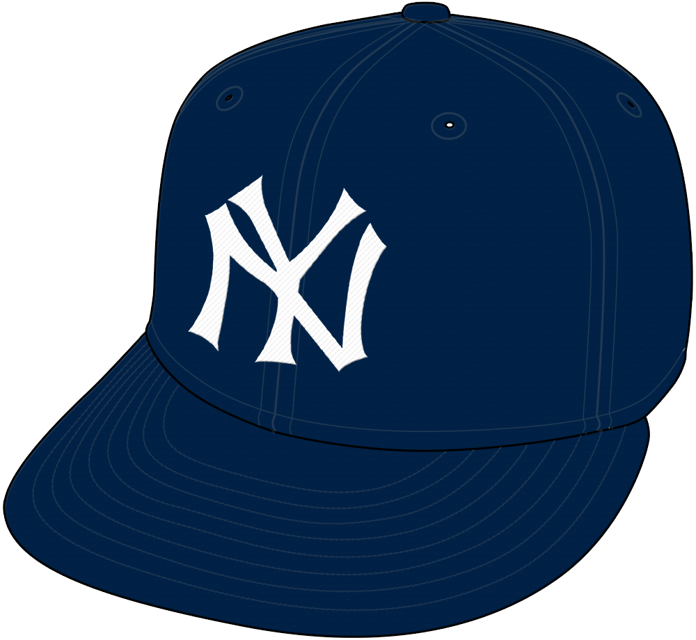 New York Yankees Cap Cap (1934-1948) - New York Yankees home and road cap worn from 1934 through 1948 SportsLogos.Net