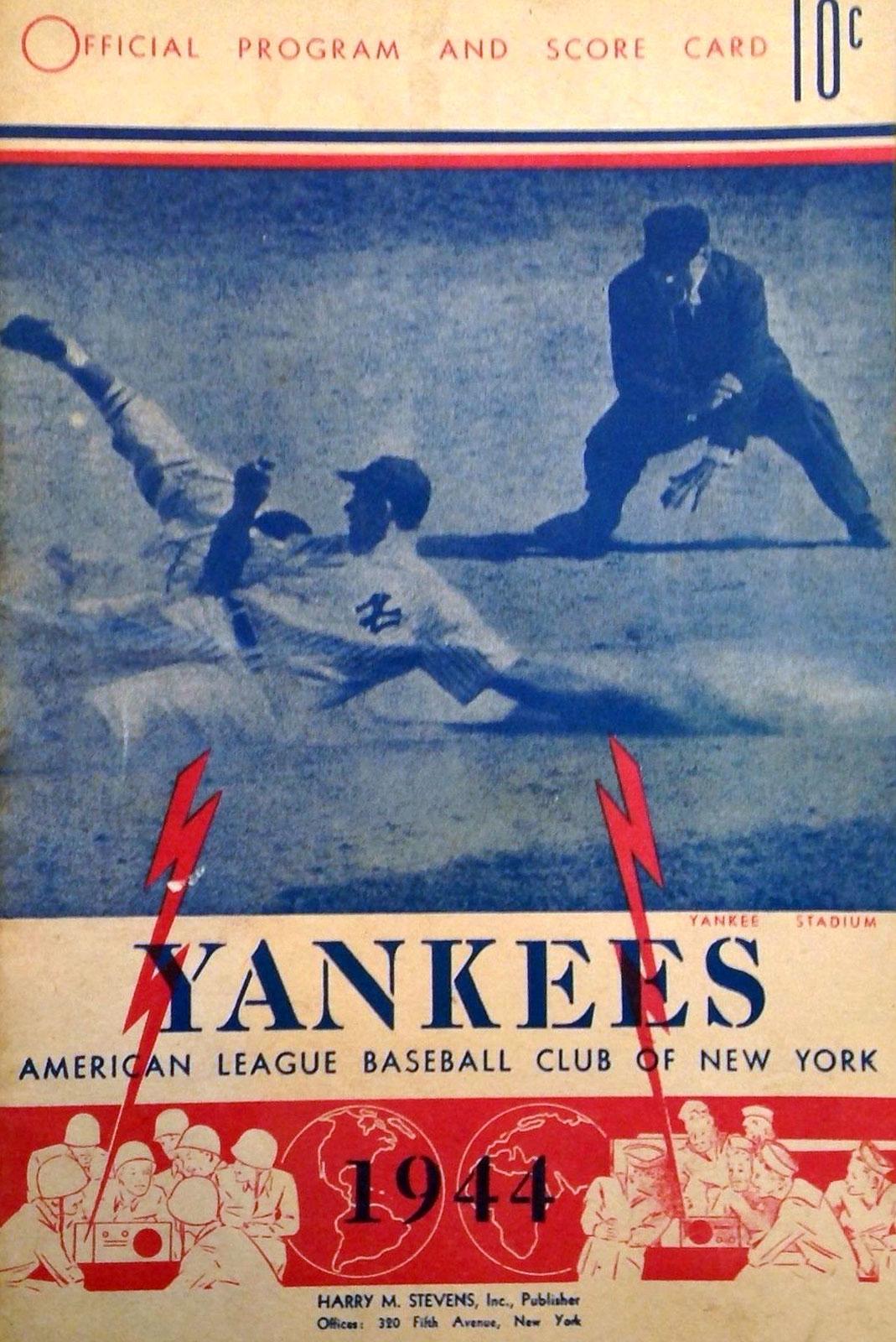 New York Yankees Program Program (1944) -  SportsLogos.Net
