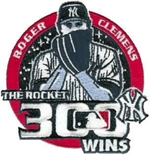 New York Yankees Logo Event Logo (2003) - Roger Clemens 300th Career Win SportsLogos.Net