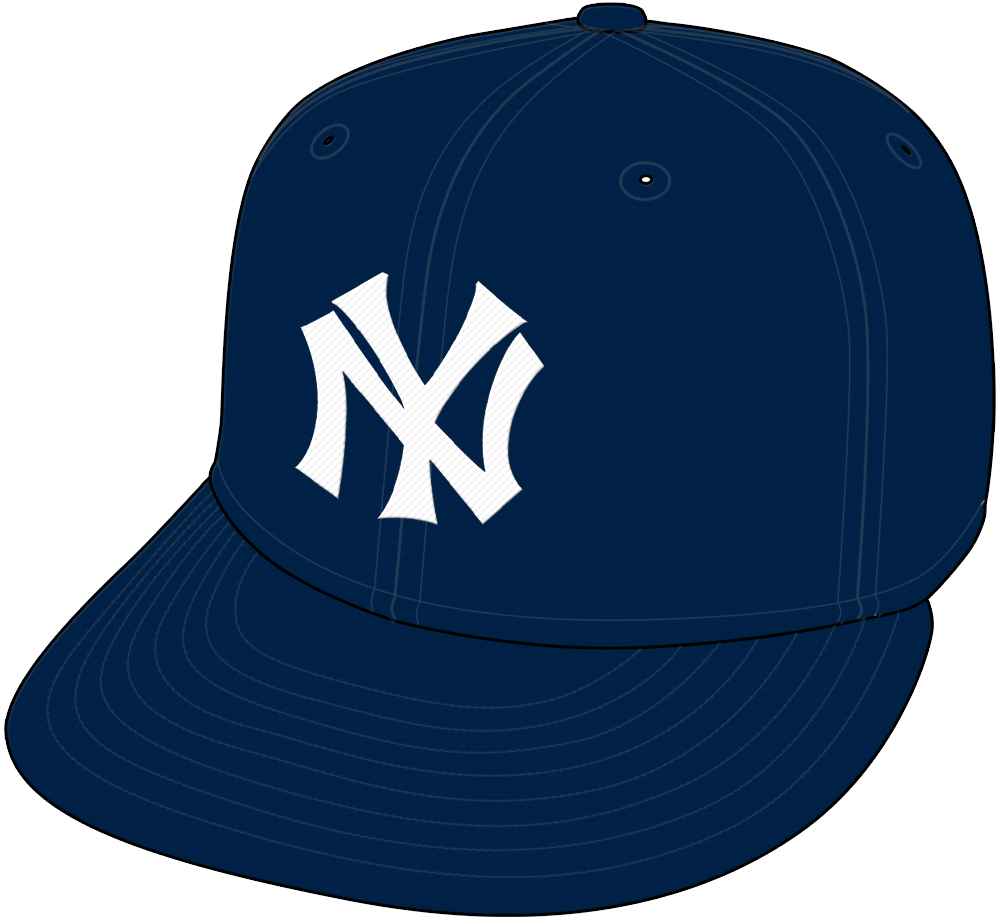 New York Yankees Cap Cap (1915-1921) - New York Yankees cap 1915 through 1921, this cap was worn for both home and road games with the exception of the 1915, 1916, 1919, and 1921 seasons during which it was worn on the road only. SportsLogos.Net