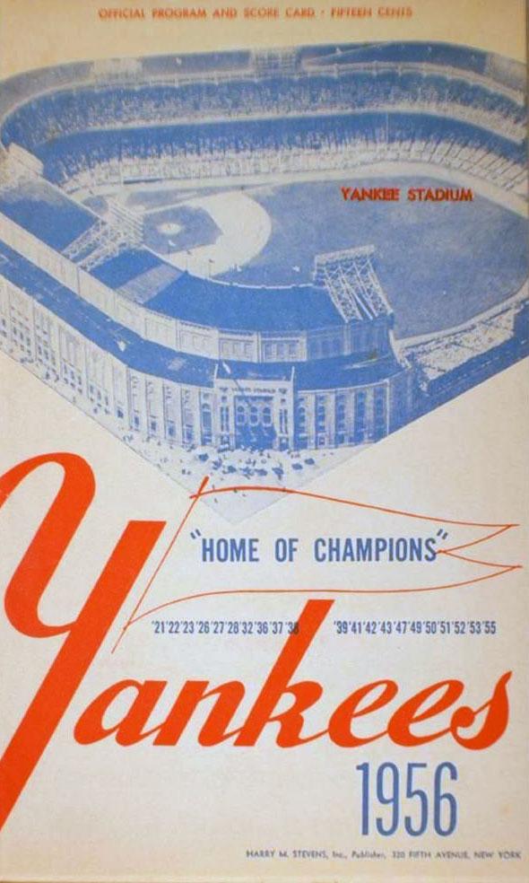 New York Yankees Program Program (1956) -  SportsLogos.Net
