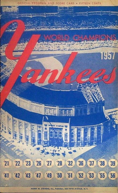 New York Yankees Program Program (1957) -  SportsLogos.Net