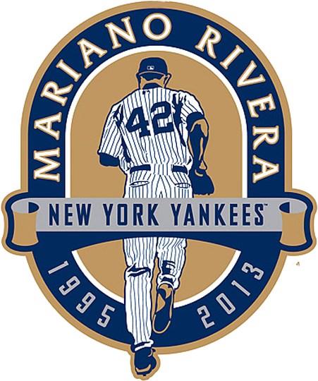New York Yankees Logo Event Logo (2013) - Patch worn on New York Yankees home jersey for game on September 22, 2013 in honour of the final homestand for player Mariano Rivera SportsLogos.Net