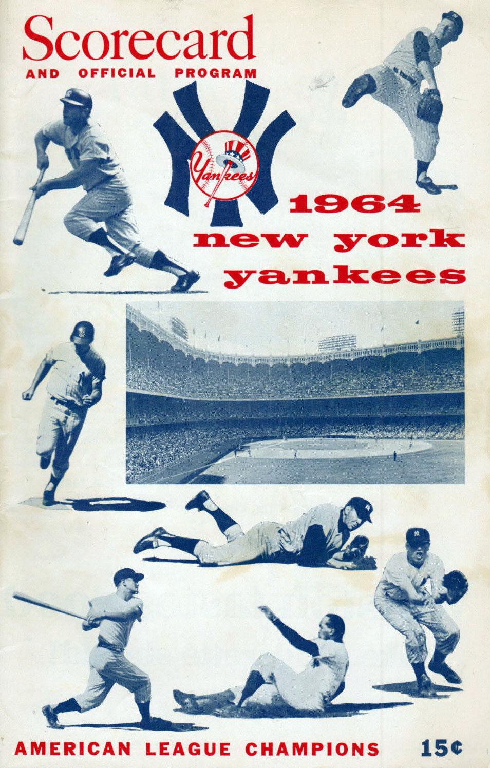 New York Yankees Program Program (1964) -  SportsLogos.Net
