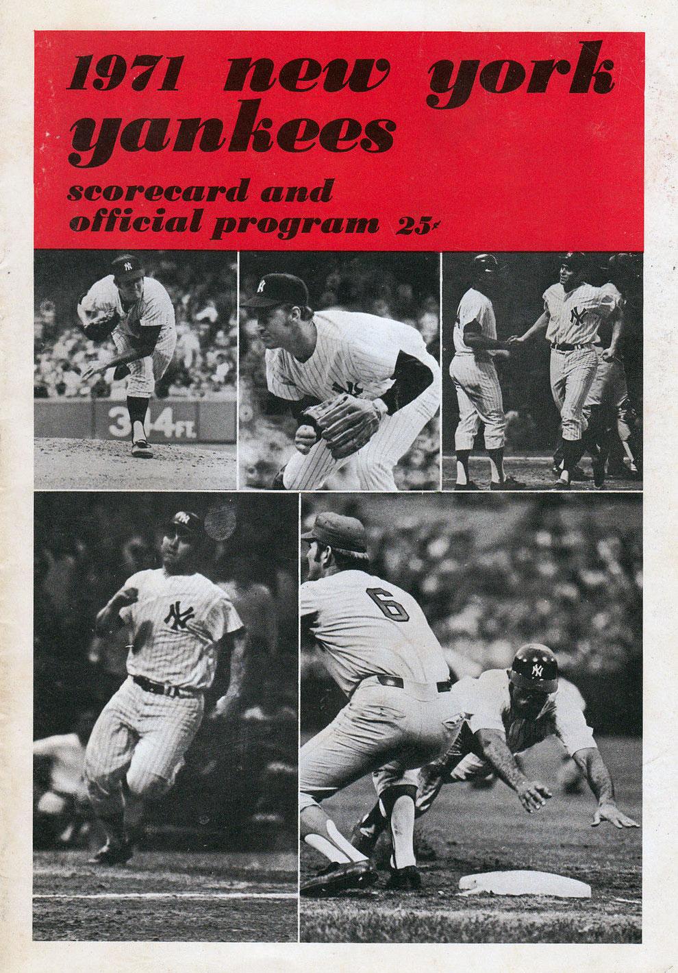 New York Yankees Program Program (1971) -  SportsLogos.Net