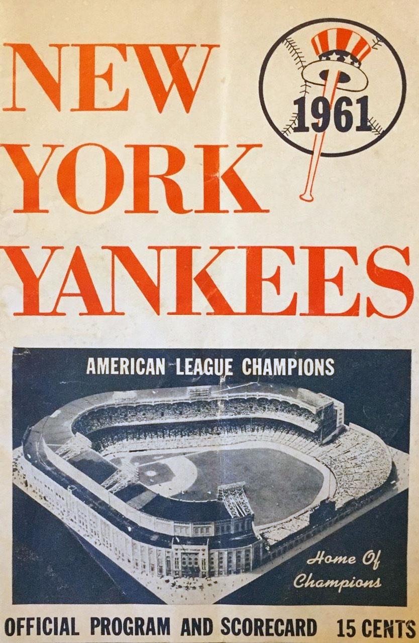 New York Yankees Program Program (1961) -  SportsLogos.Net