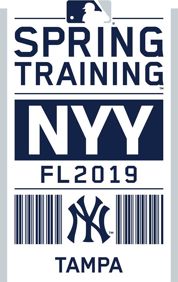 New York Yankees Logo Event Logo (2019) - New York Yankees 2019 Spring Training Logo SportsLogos.Net