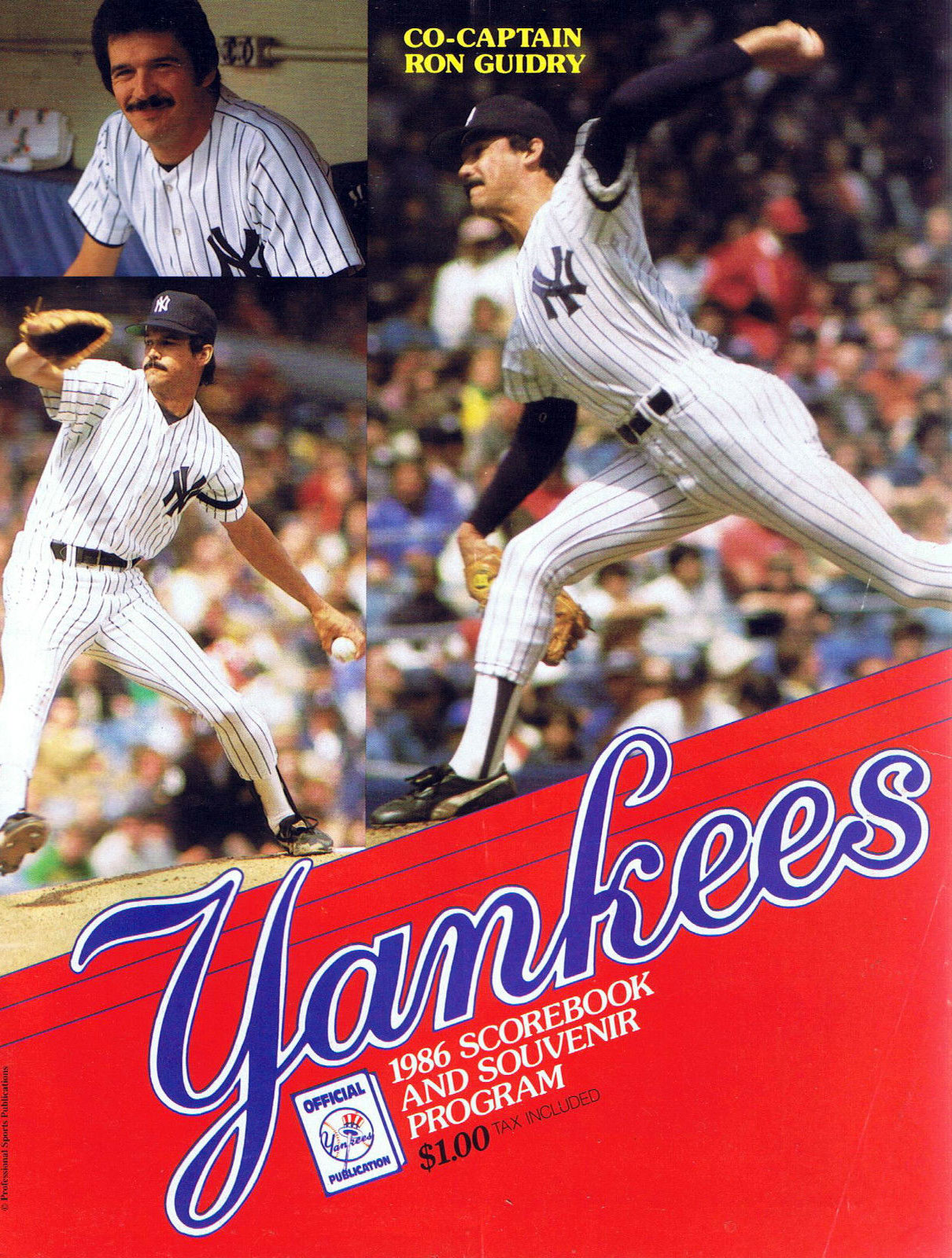 New York Yankees Program Program (1986) -  SportsLogos.Net