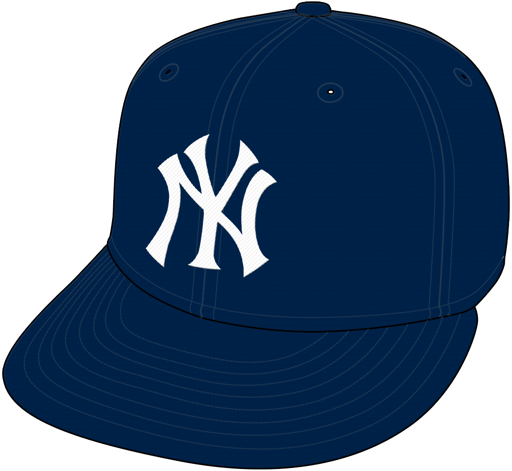 New York Yankees Cap Cap (1949-Pres) - Interlocking NY in white on a midnight blue cap, worn as the primary New York Yankees cap both at home and on the road since 1949 SportsLogos.Net