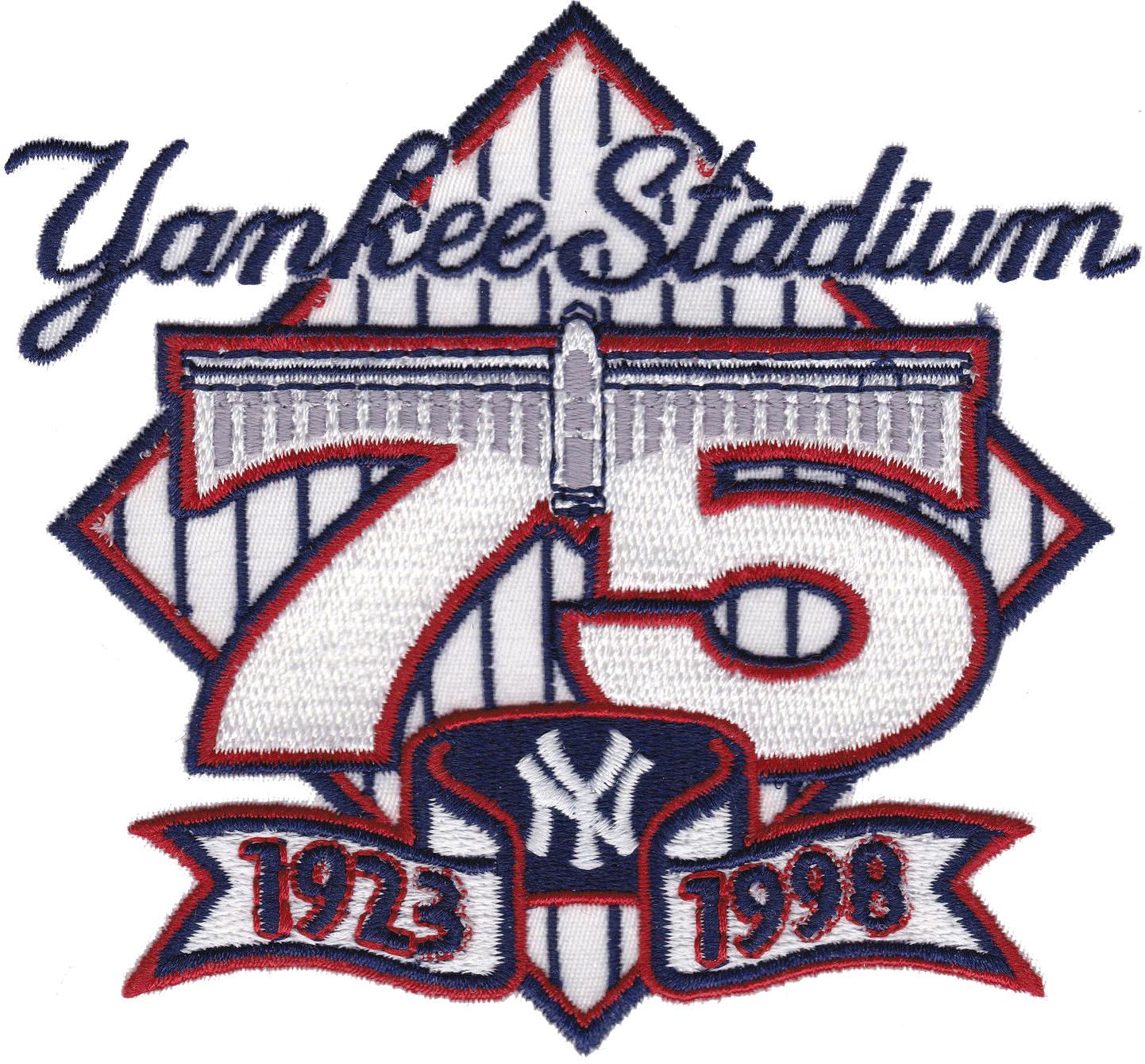 New York Yankees Logo Stadium Logo (1998) - 75th Anniversary of Yankee Stadium SportsLogos.Net