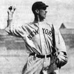 New York Yankees (1913) Roger Peckinpaugh in New York Yankees road jersey, 1913
