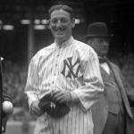 New York Yankees (1915) Bill Donovan in New York Yankees home jersey, Opening day 1915