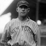 New York Yankees (1916) Tim Hendryx in New York Yankees road jersey at Comiskey Park, 1916